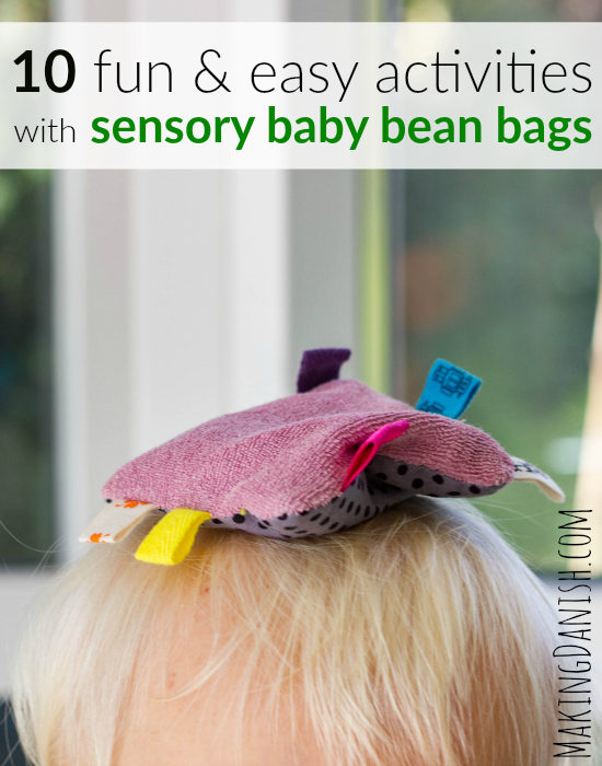 10 easy activities with sensory baby bean bags