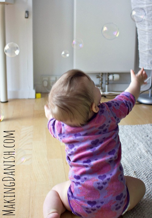 playing with bubbles is a great fun for babies
