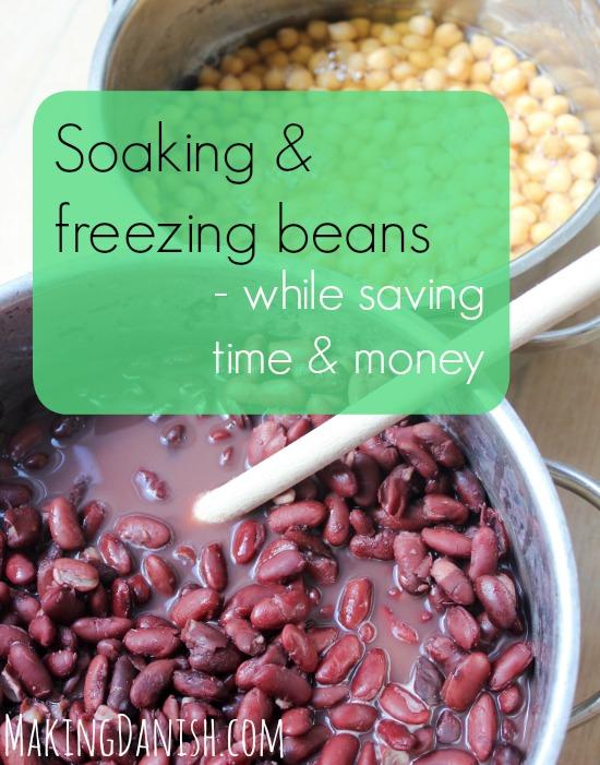 Soaking and freezing beans