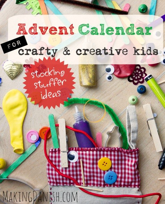 DIY advent calendar for crafty and creative kids