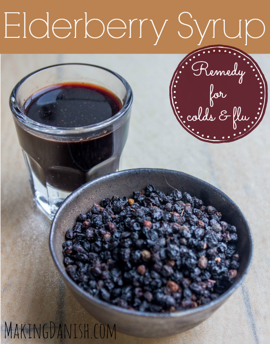 Elderberry syrup remedy for colds and flu