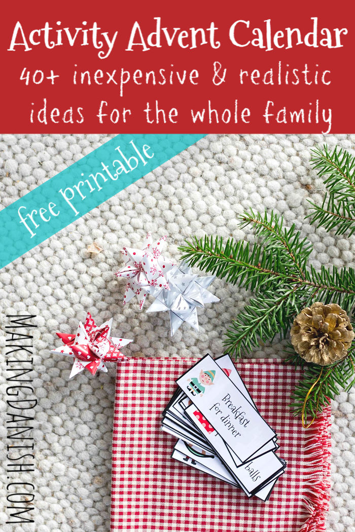 Family Advent Calendar 40 Realistic And Fun Ideas For Christmas Activities Free Printable