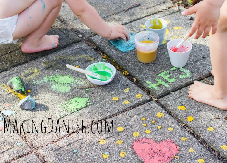 diy outdoor paint for toddlers and kids