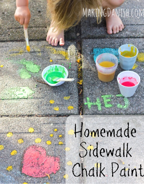 Non-toxic sidewalk paint with just 3 ingredients
