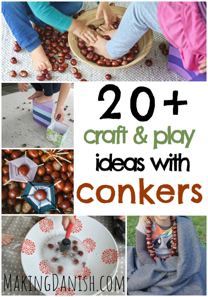 20 + crafts play ideas with conkers