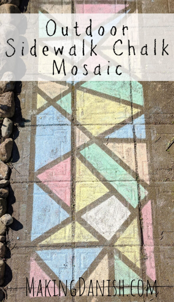 sidewalk chalk mosaic outdoor activity