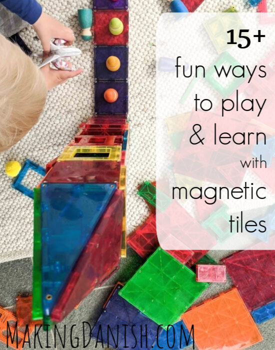 15+ activities and play ideas with magnetic tiles