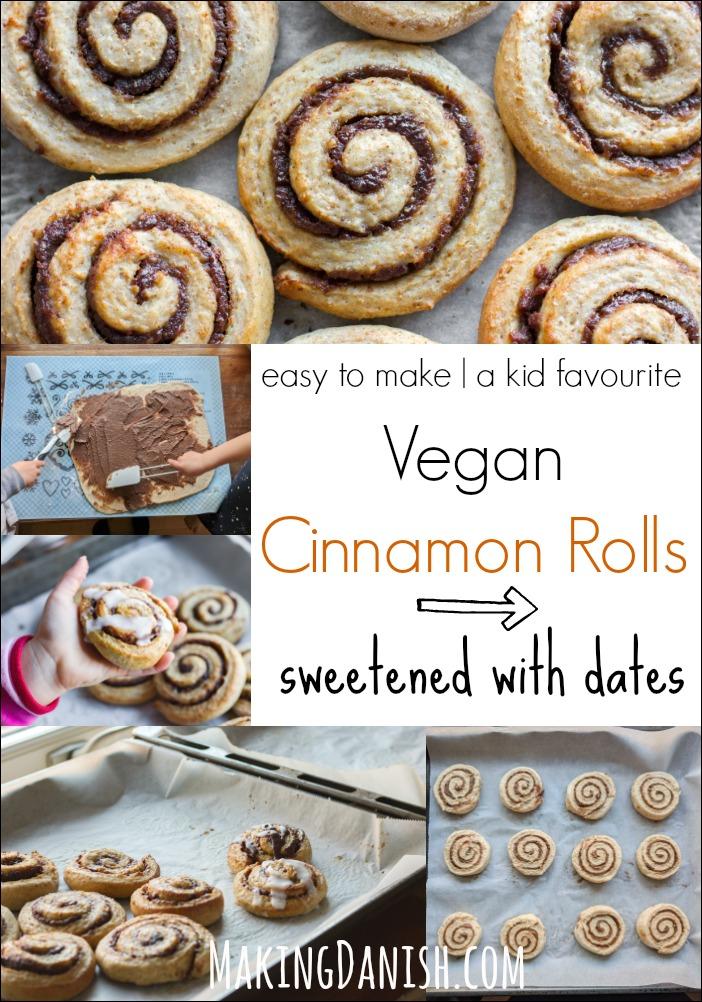 easy vegan cinnamon rolls with dates