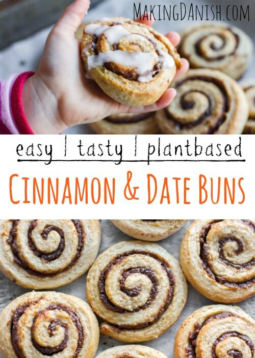 Plantbased cinnamon rolls sweetened with dates