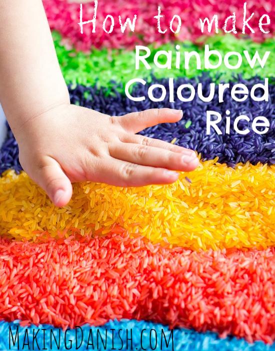 how to make rainbow coloured rice