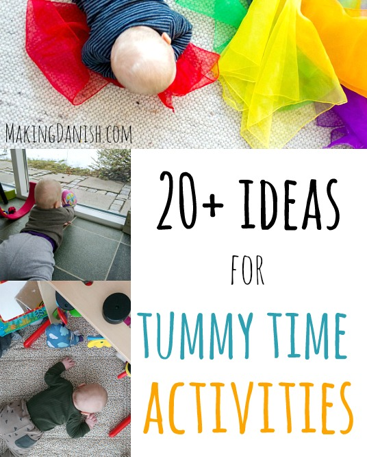 20+ ideas for tummy time activities