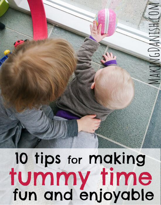 baby and sibling tummy time fun